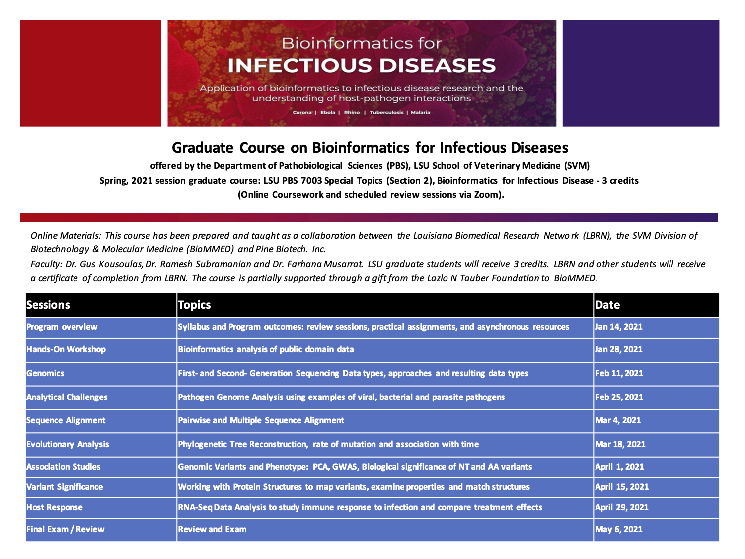 Bioinfectious Diseases Graduate Course.pdf (2020.12.11) Page 1